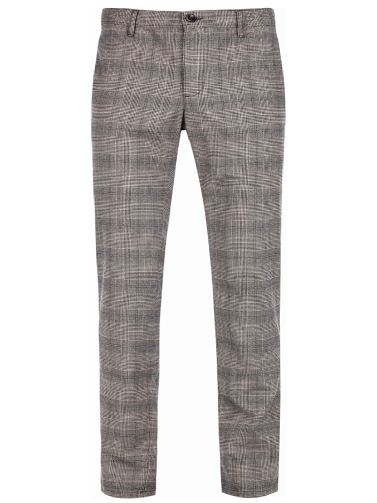 ALBERTO Chino Slim Fit ROB Soft Check braun 6287-1223-085