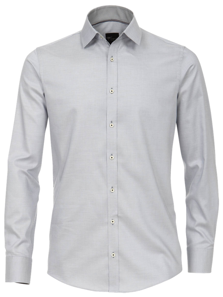 VENTI Hemd 172815700/700 SLIM FIT Oxford Ausputz hellgrau SALE