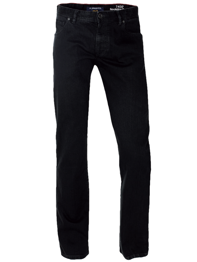 ALBERTO Jeans Regular Slim Fit PIPE T400 schwarz SPARPREIS