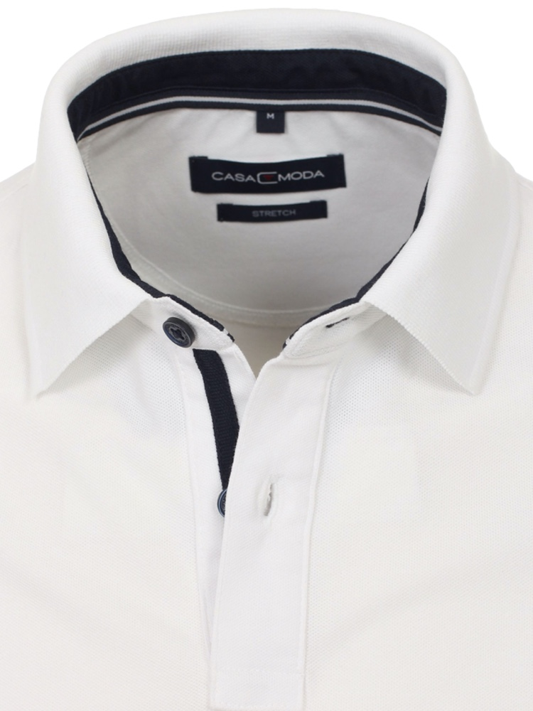 CASA MODA Poloshirt Stretch weiss SALE