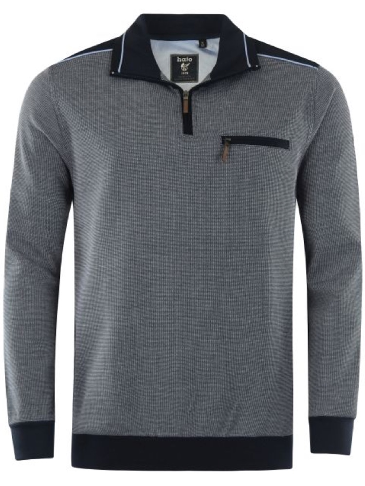 HAJO Sweatshirt TROYER Bi-Color dunkelblau