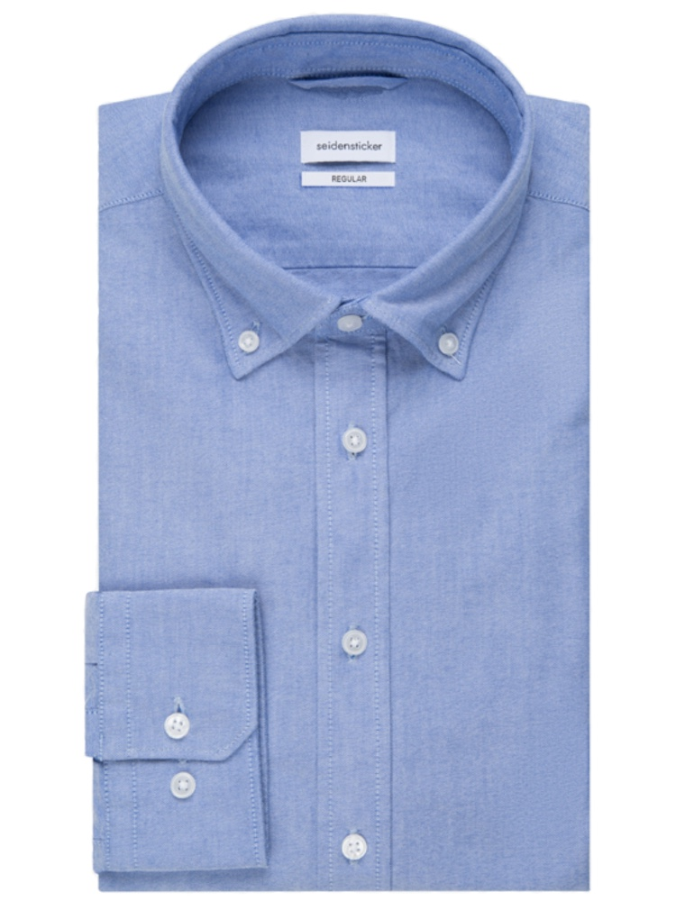 Seidensticker Hemd REGULAR FIT Oxford hellblau
