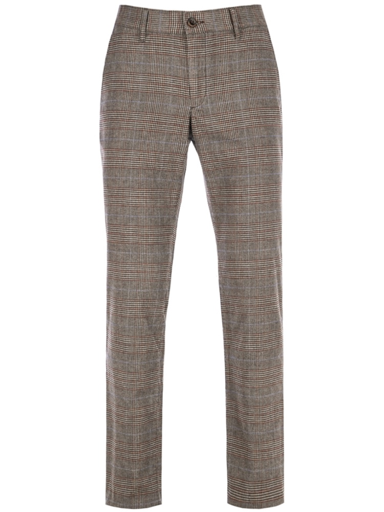 ALBERTO Chino Regular Slim Fit LOU Colour Check hellbraun 5987-1227-086