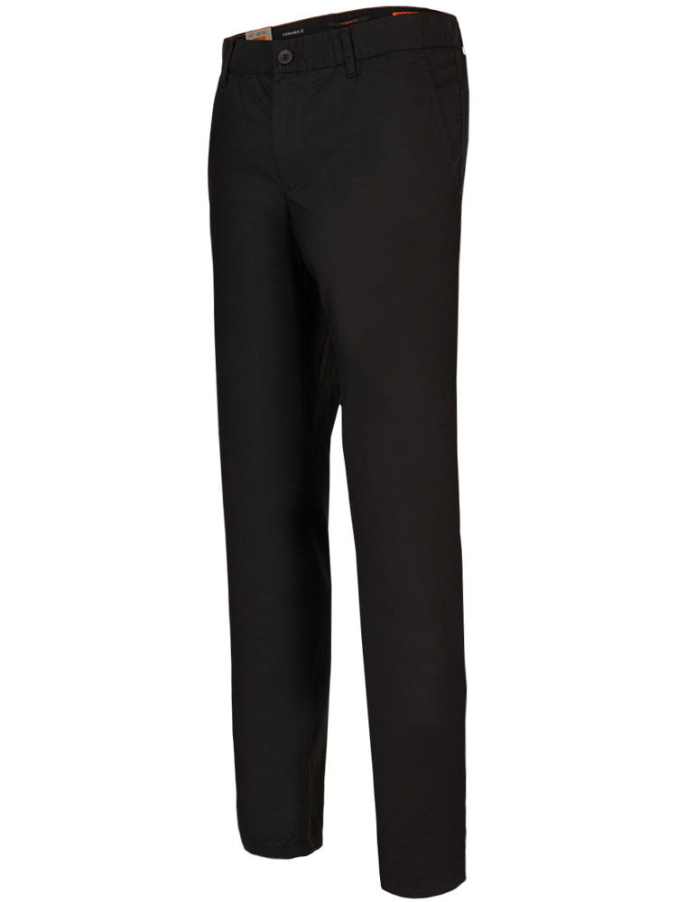 ALBERTO Chino Hose Regular Slim Fit LOU Ceramica schwarz