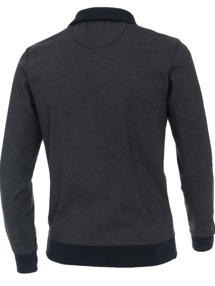 CASA MODA Sweatshirt TROYER Bi-Color graublau