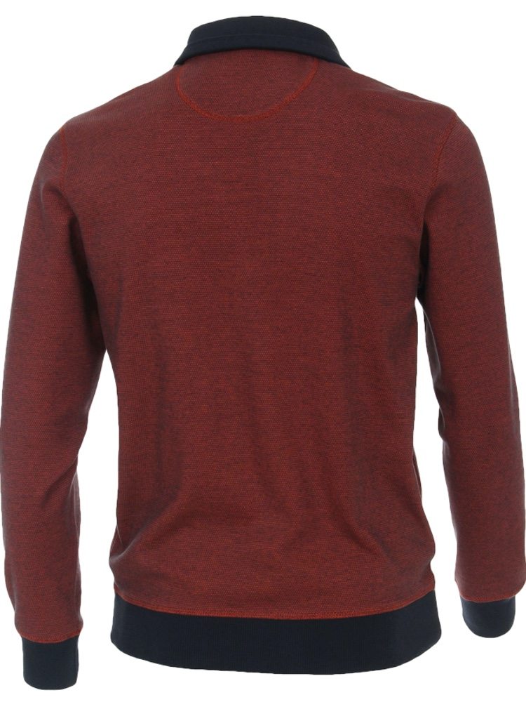 CASA MODA Sweatshirt TROYER Bi-Color rotorange