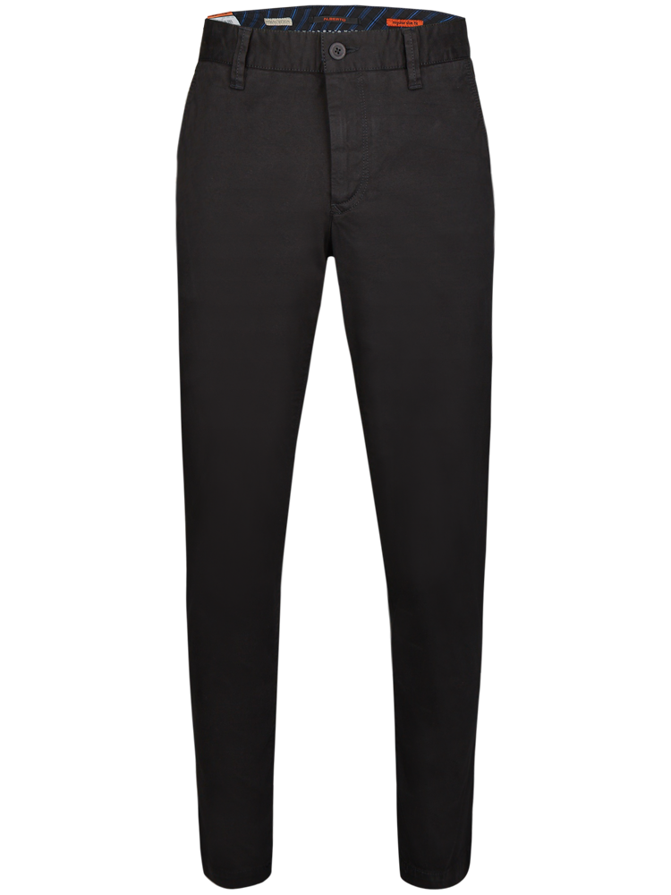 ALBERTO Chino Hose Regular Slim Fit LOU Cotton schwarz SPARPREIS