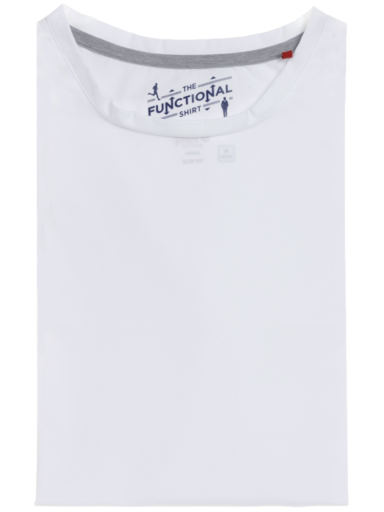 PURE T-Shirt Functional RUNDHALS weiss