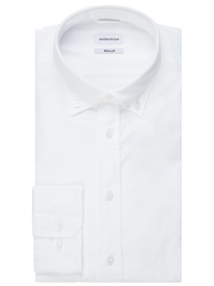 Seidensticker Hemd REGULAR FIT Oxford weiss