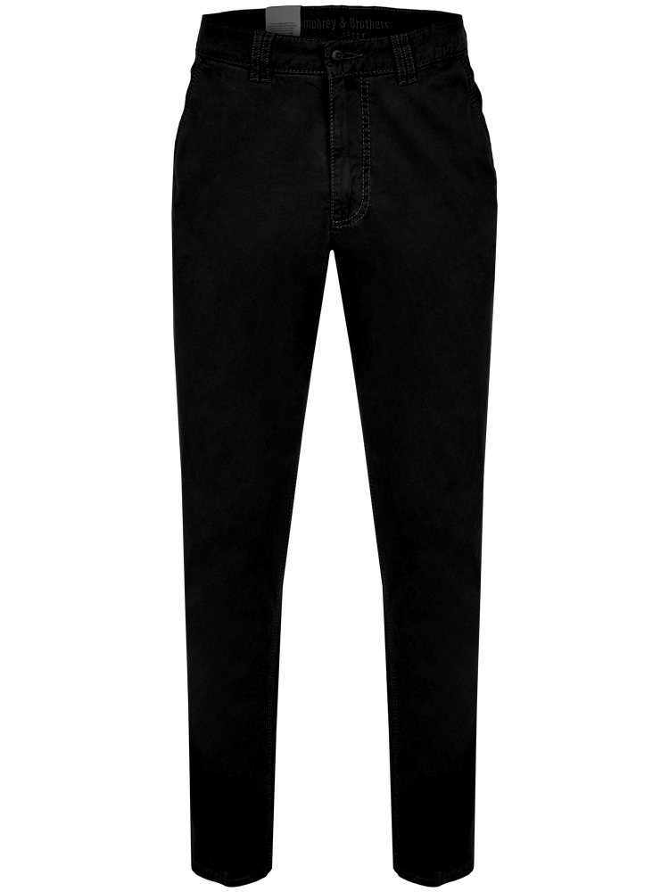 JOKER Chino Hose MARVIN Stretch Gabardine schwarz
