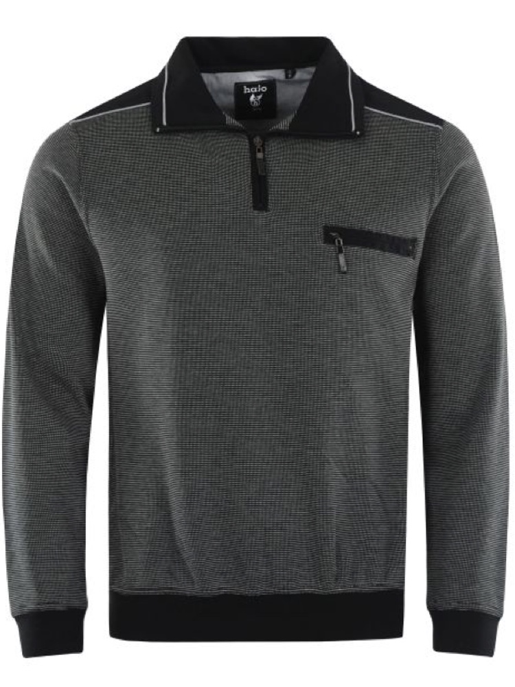 HAJO Sweatshirt TROYER Bi-Color anthrazit