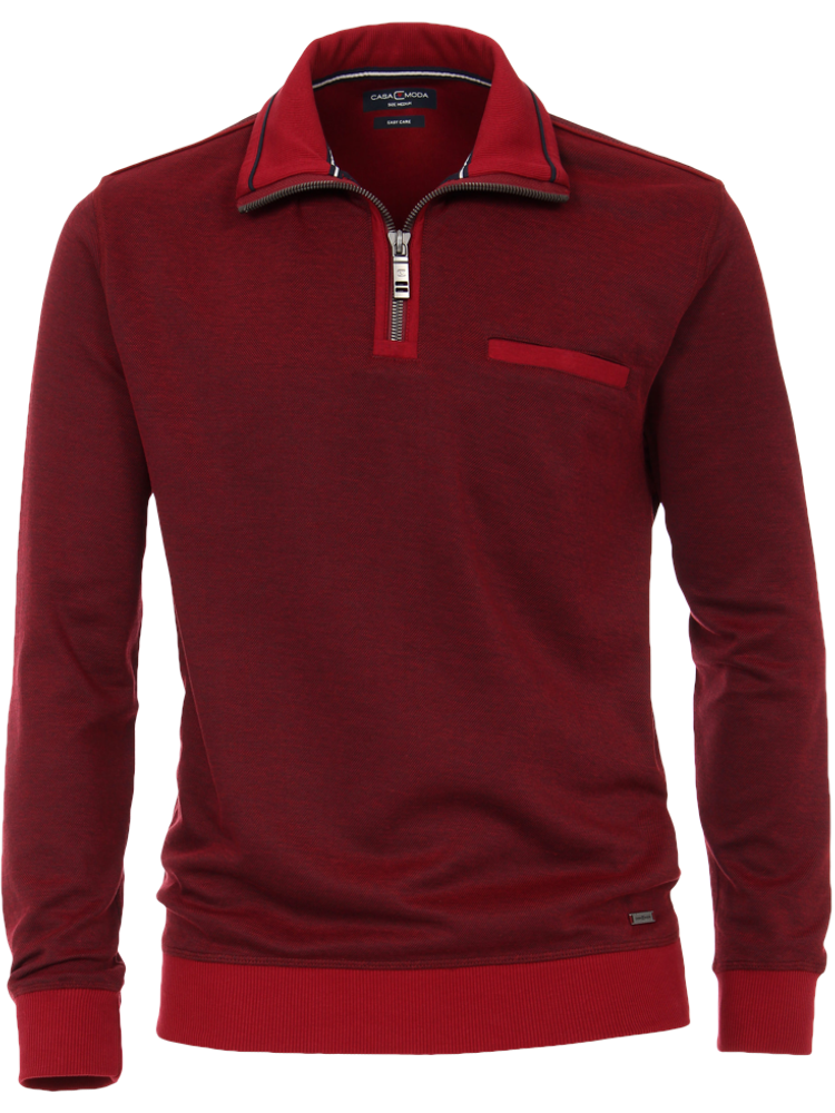 CASA MODA Pullover Sweat TROYER Bi-Color dunkelrot
