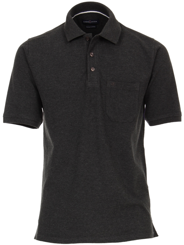 CASA MODA Poloshirt 4370/782 PIMA COTTON anthrazit SALE