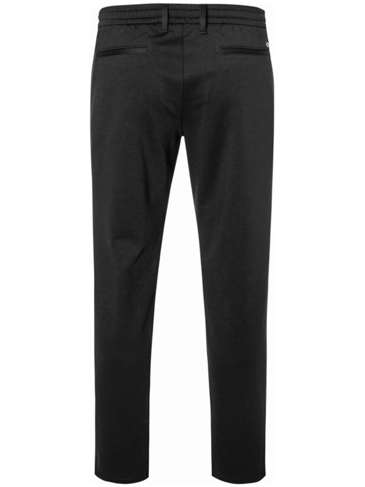 ALBERTO Hose Tapered Fit HOUSE Jersey schwarz