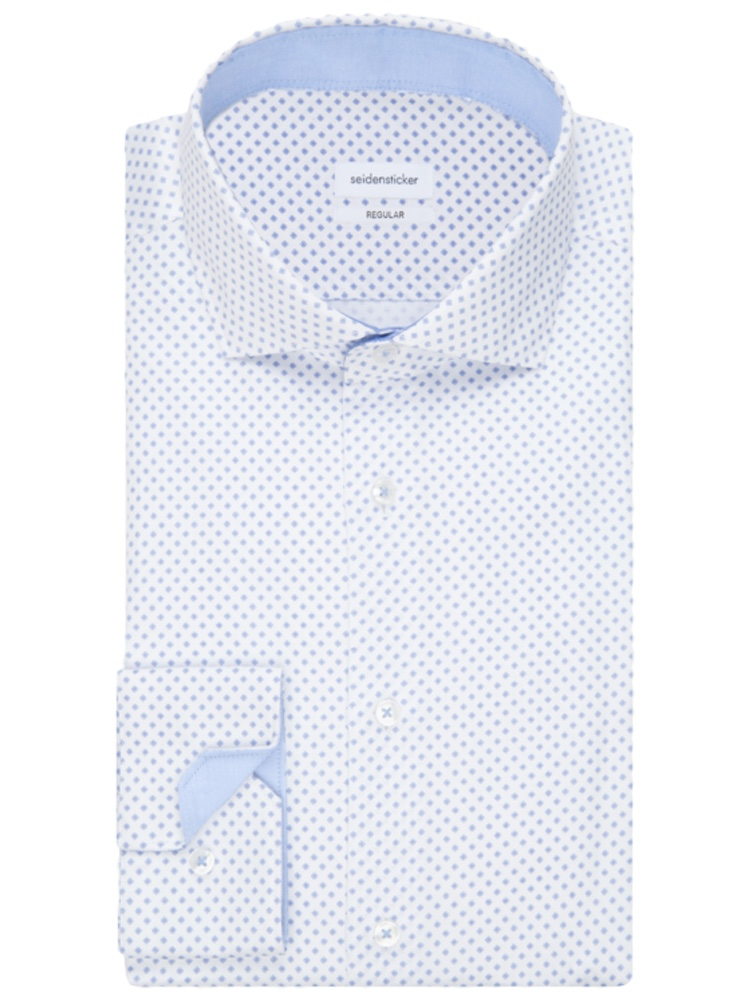 Seidensticker Hemd REGULAR FIT Twill Print weiss