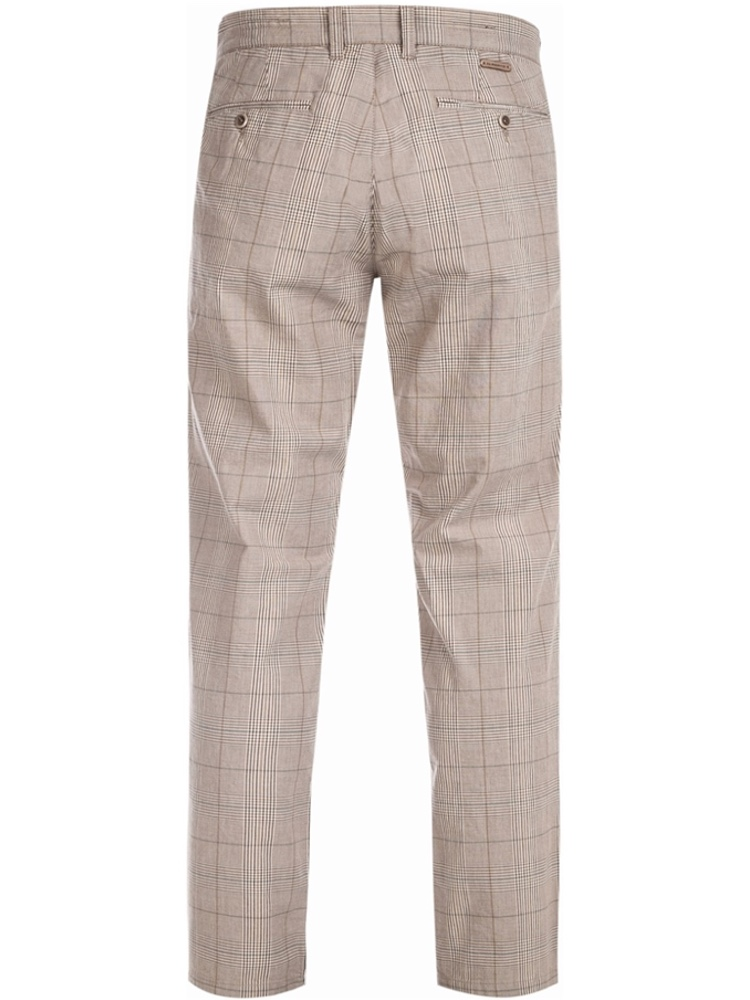 ALBERTO Chino Hose Regular Slim Fit LOU Karo beige