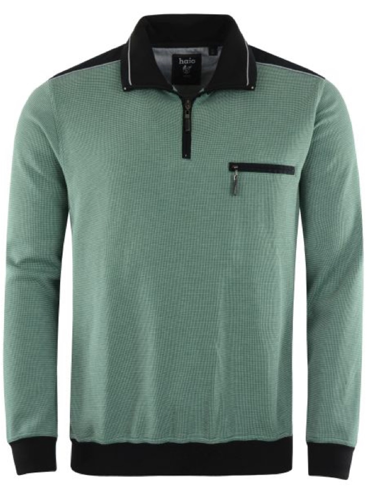 HAJO Sweatshirt TROYER Bi-Color grün