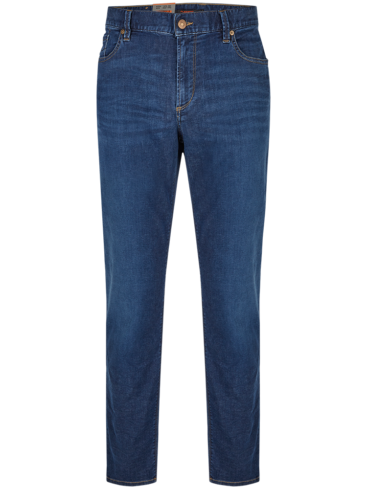 ALBERTO Jeans Regular Slim Fit PIPE T400 Tencel blau
