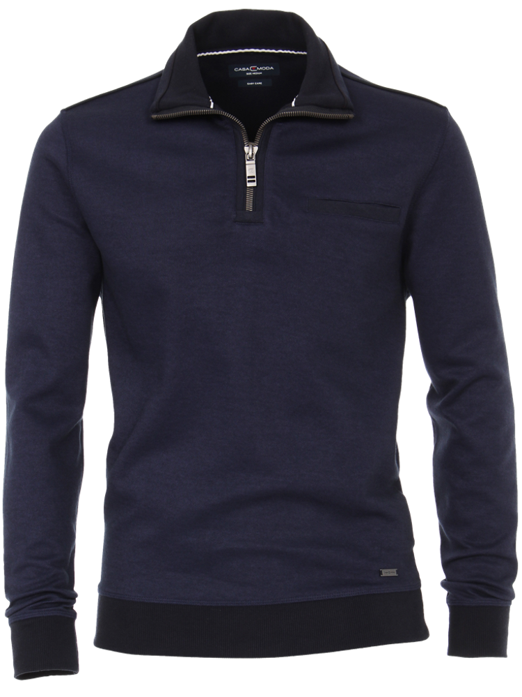 CASA MODA Pullover Sweat TROYER Bi-Color nachtblau