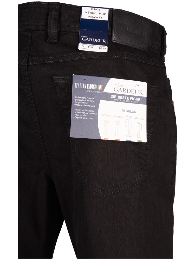 GARDEUR 470181/099 Jeans Regular Fit NEVIO-11 black SALE