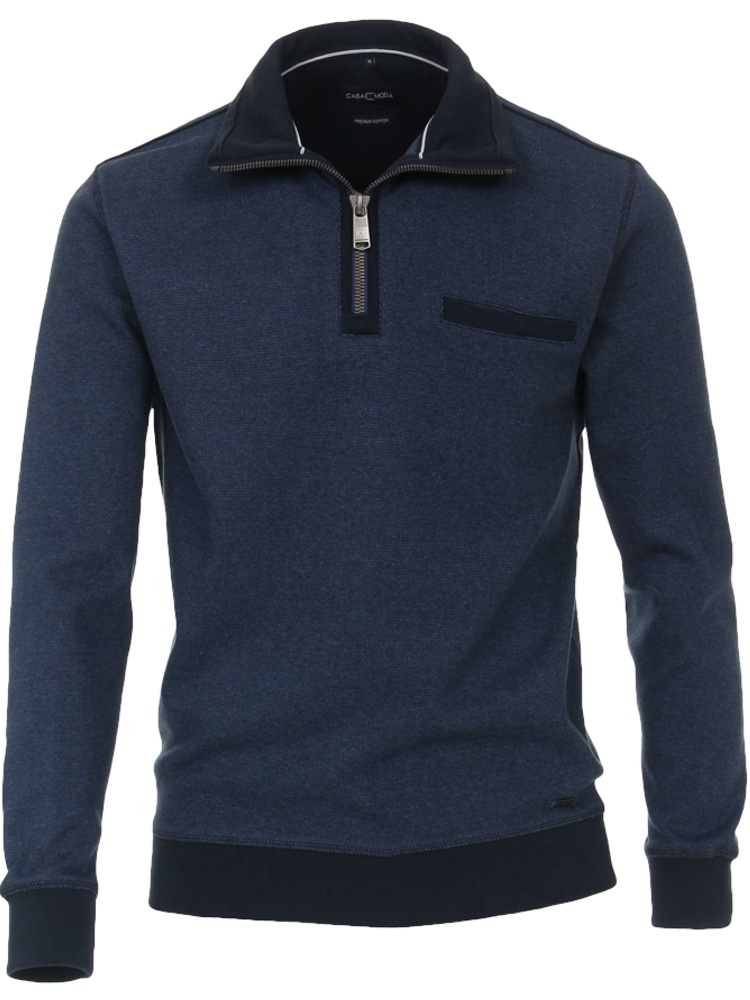 CASA MODA Sweatshirt TROYER Bi-Color dunkelblau