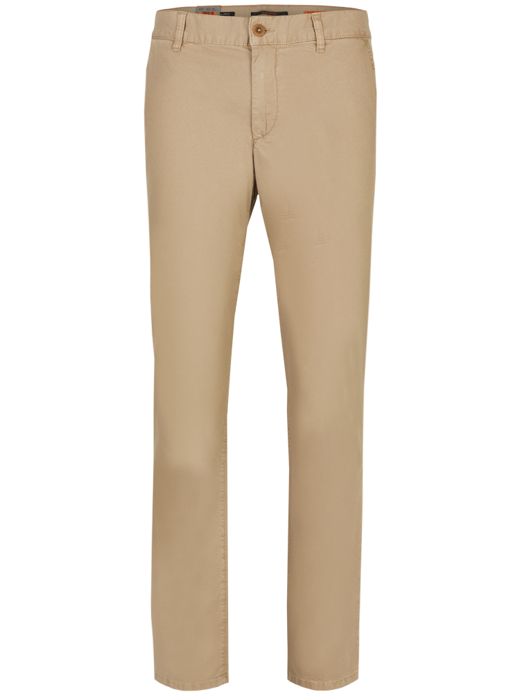 ALBERTO Chino Hose Regular Slim Fit LOU Cotton hellbeige