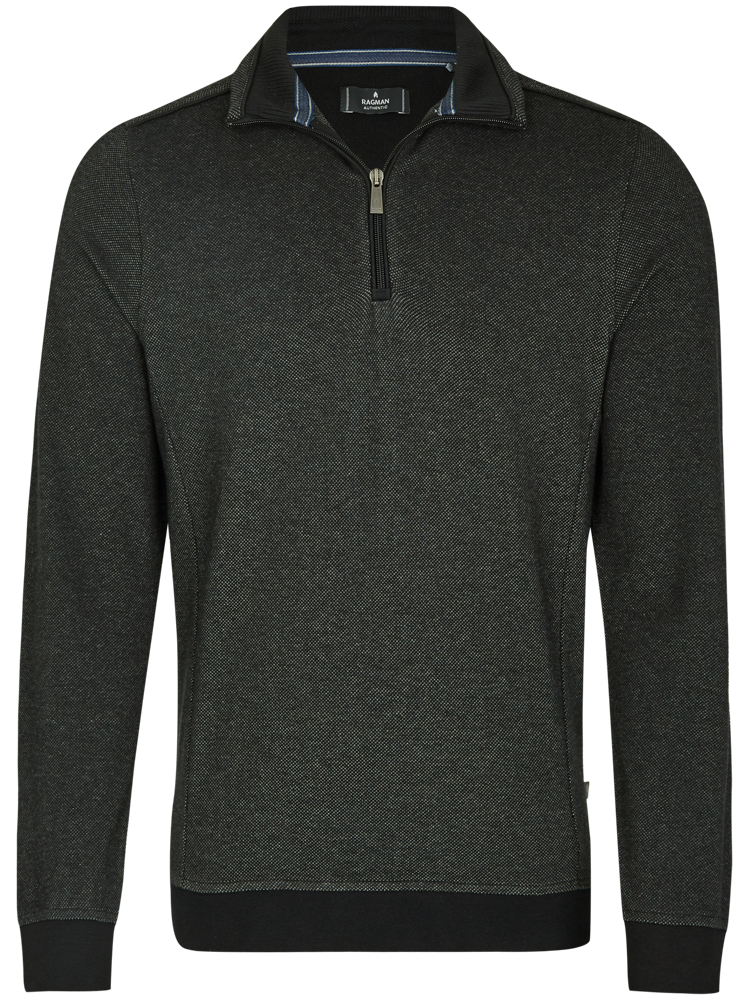 RAGMAN Sweatshirt TROYER Bi-Colour anthrazit melange