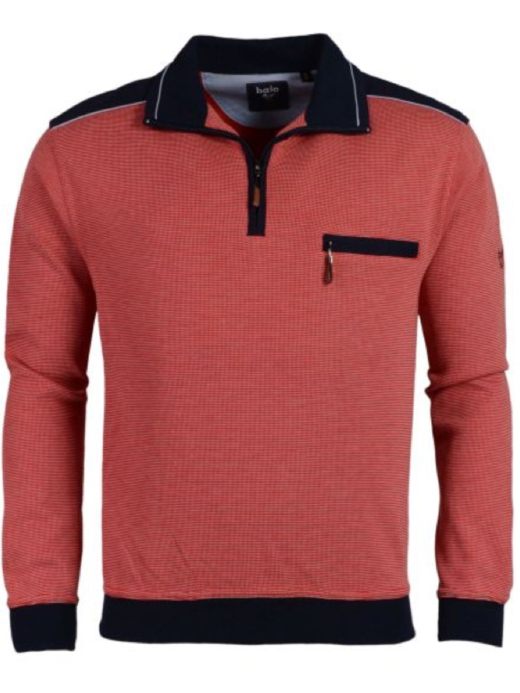 HAJO Sweatshirt TROYER Bi-Color lava