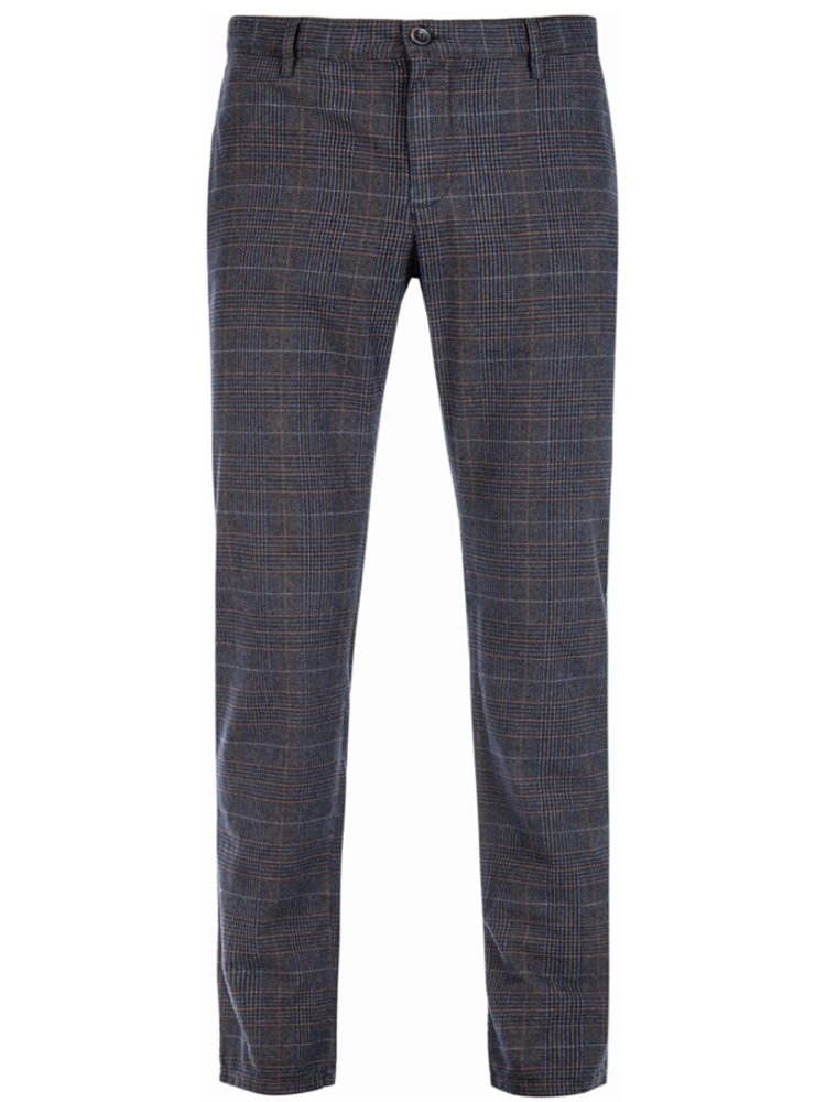 ALBERTO Chino Regular Slim Fit LOU Colour Check dunkelblau 5987-1227-085
