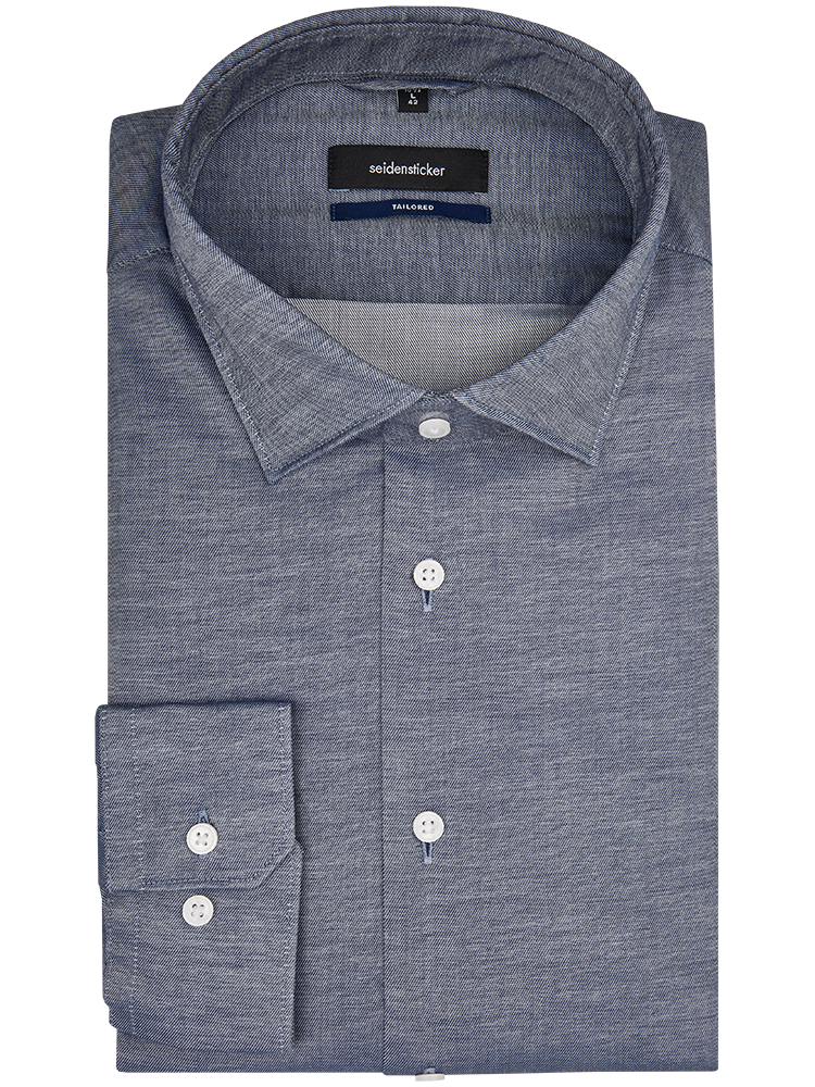Seidensticker Hemd 234910/19 TAILORED FIT Oxford graublau SALE