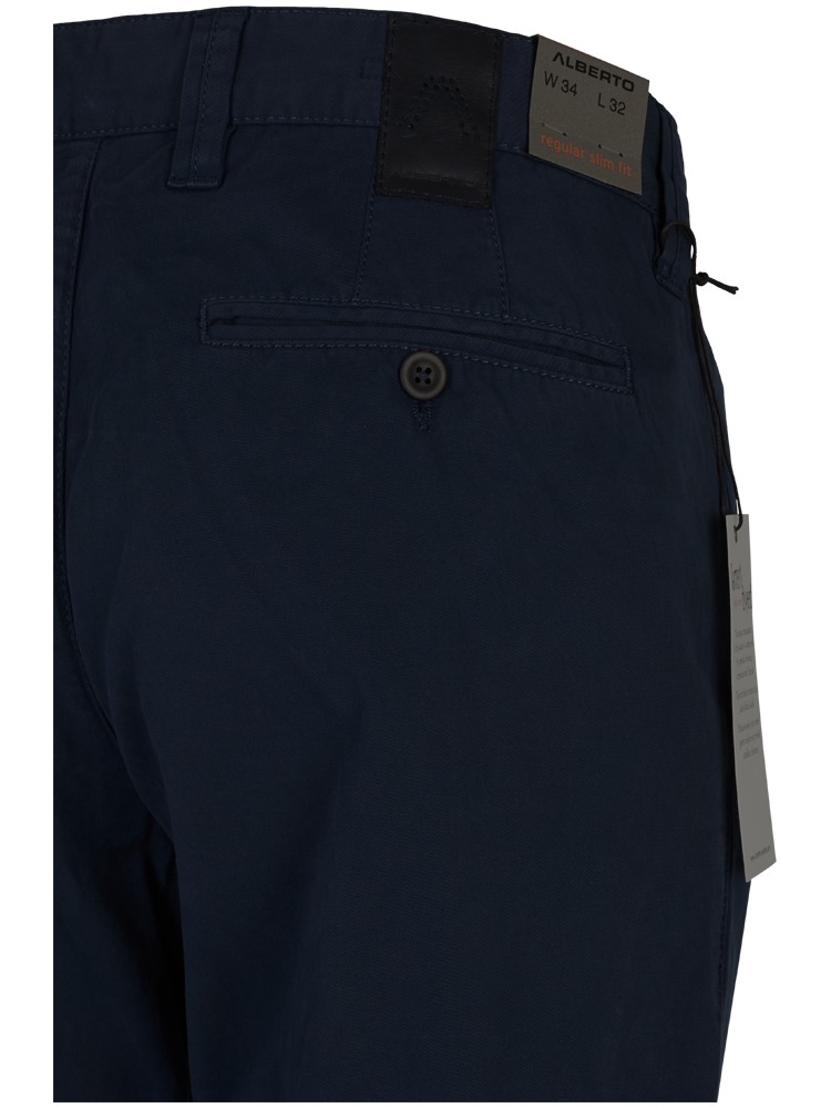 ALBERTO Chino Hose Regular Slim Fit LOU Cotton marineblau SPARPREIS