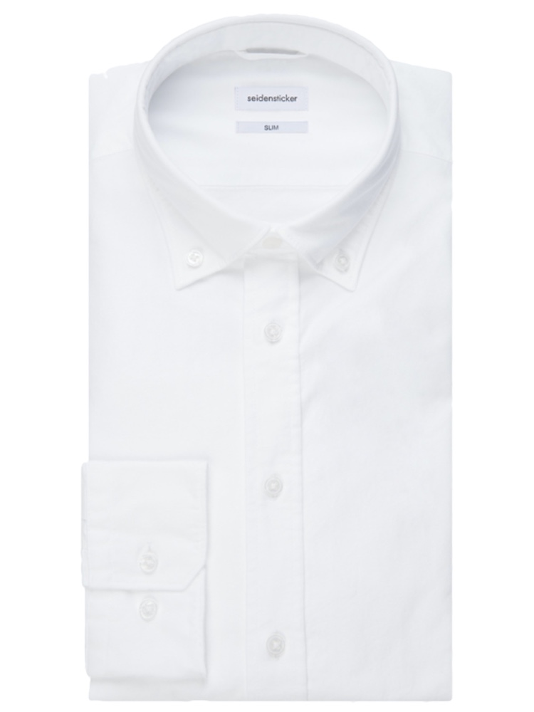 Seidensticker Hemd SLIM FIT Oxford weiss