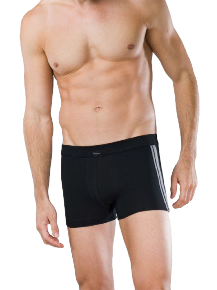 SCHIESSER Cotton Stretch Shorts schwarz 2er SPARPACKUNG