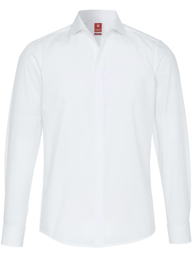 PURE Hemd SLIM FIT Party Shirt weiß