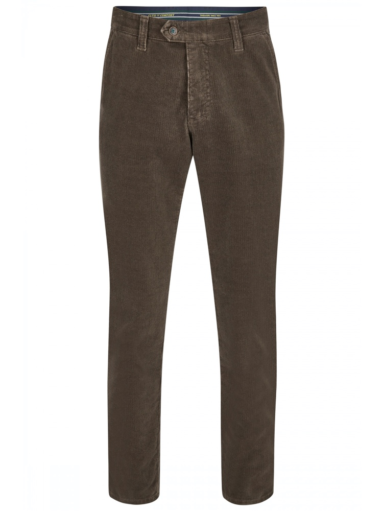 CLUB OF COMFORT Hose GARVEY Feincord braun