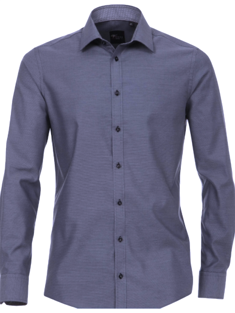 VENTI Hemd 172678600/100 SLIM FIT Oxford Ausputz blau SALE