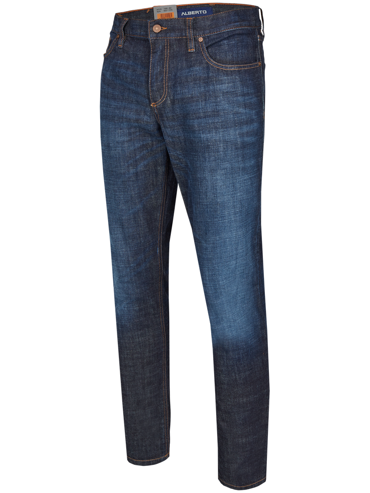 ALBERTO Jeans Regular Slim Fit PIPE Authentic Denim blue used SPARPREIS