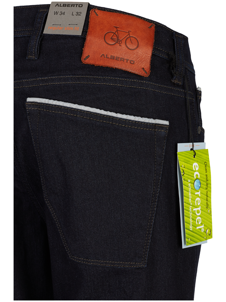 ALBERTO Jeans Regular Slim Fit BIKE T400 Ecorepel Denim dunkelblau