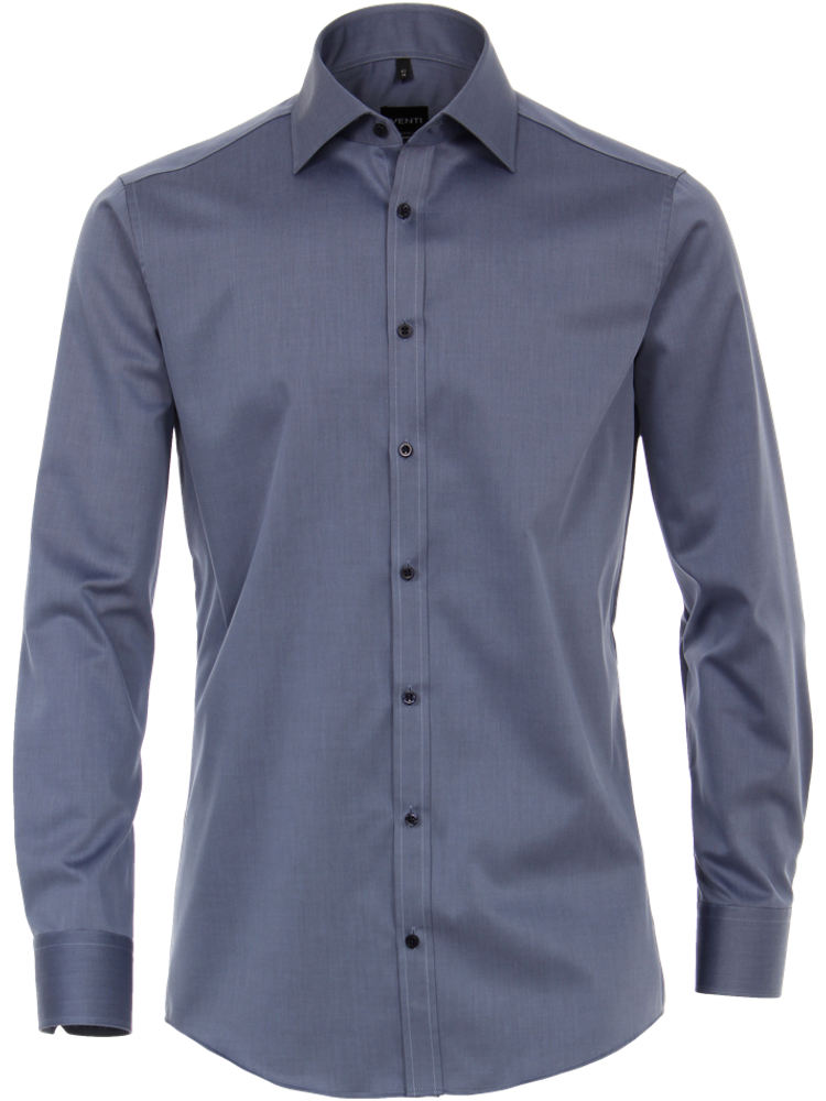 VENTI Hemd MODERN FIT 1880/100 Twill denim blau SALE