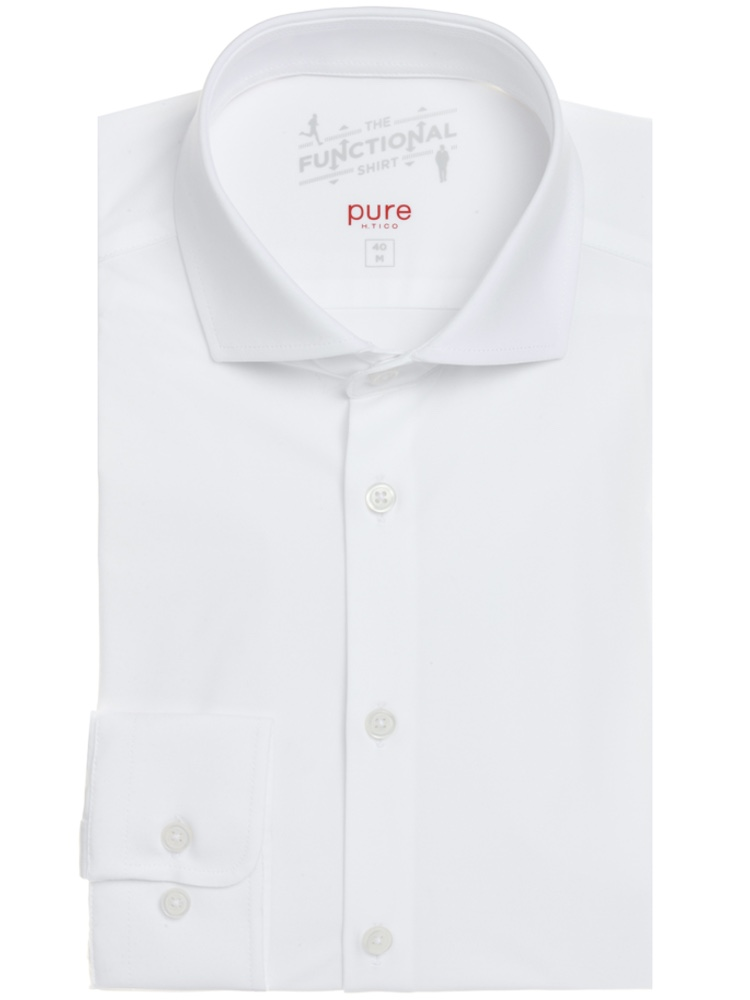 PURE Hemd SLIM FIT Functional Shirt Superstretch weiß