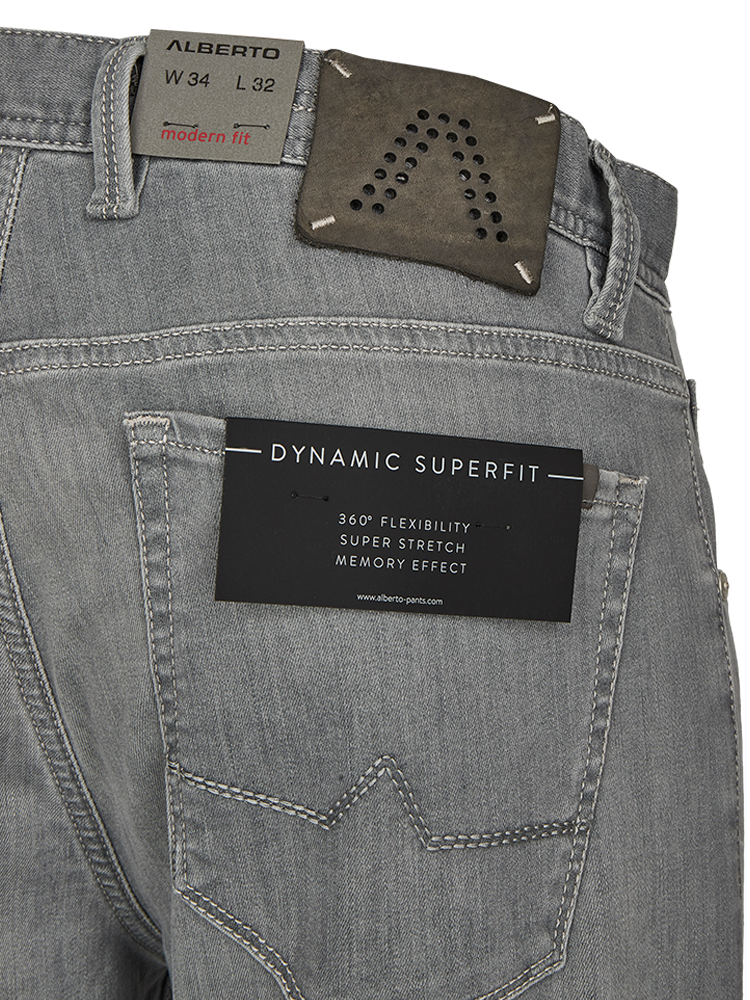 ALBERTO 5017/970 Jeans Modern Fit STONE Superfit grey used SALE