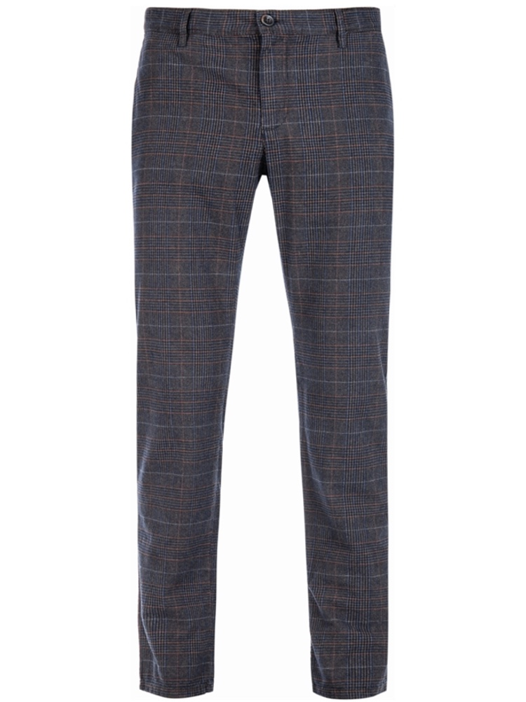 ALBERTO Chino Slim Fit ROB Colour Check dunkelblau 6287-1227-085