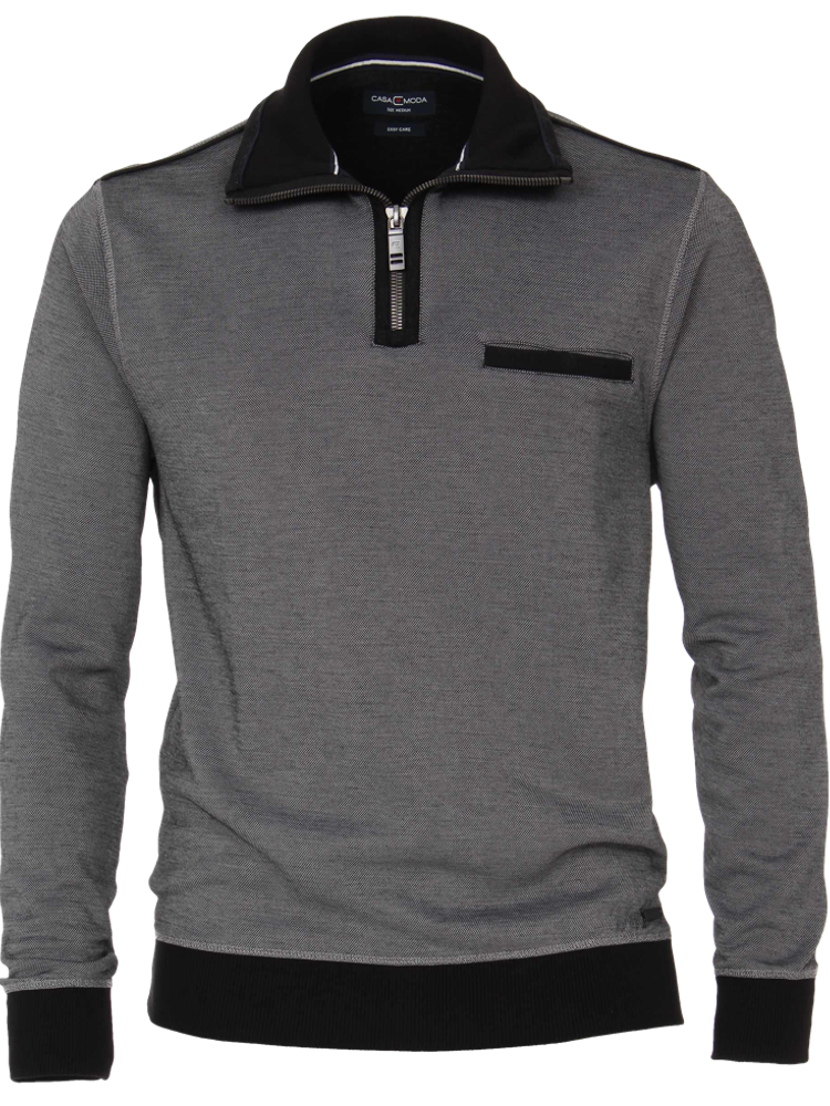 CASA MODA Pullover Sweat TROYER Bi-Color dunkelgrau