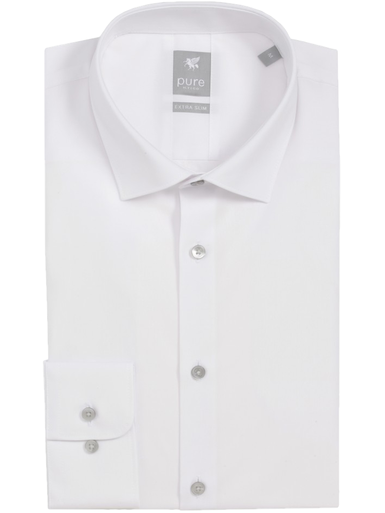 PURE Hemd EXTRA SLIM FIT xtra langer Arm 71 cm weiß